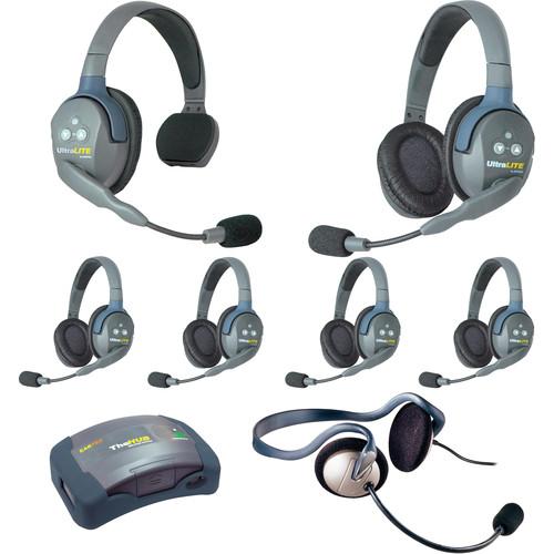 Eartec HUB715MON UltraLITE 7-Person HUB Intercom System with Monarch Headset (USA)