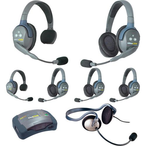 Eartec HUB724MON UltraLITE 7-Person HUB Intercom System with Monarch Headset (USA)