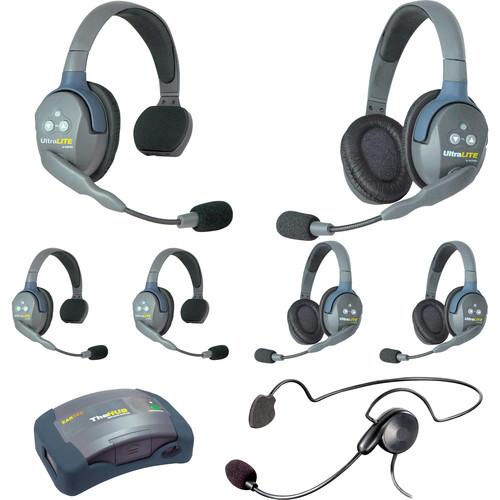 Eartec HUB733CYB UltraLITE 7-Person HUB Intercom System with Cyber Headset (USA)