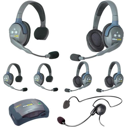 Eartec HUB733CYBEU UltraLITE 7-Person HUB Intercom System with Cyber Headset (EU)