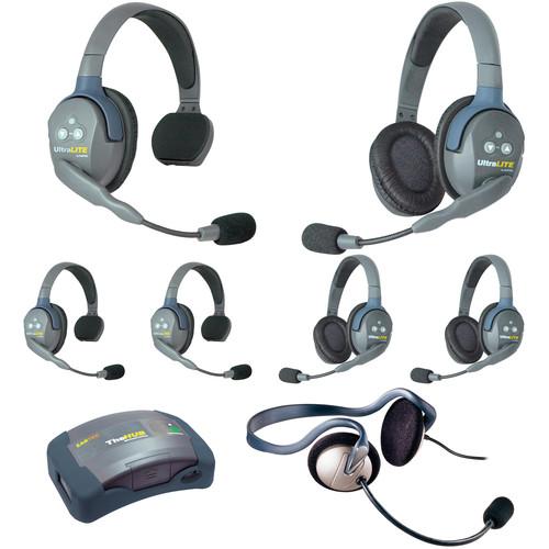 Eartec HUB733MON UltraLITE 7-Person HUB Intercom System with Monarch Headset (USA)
