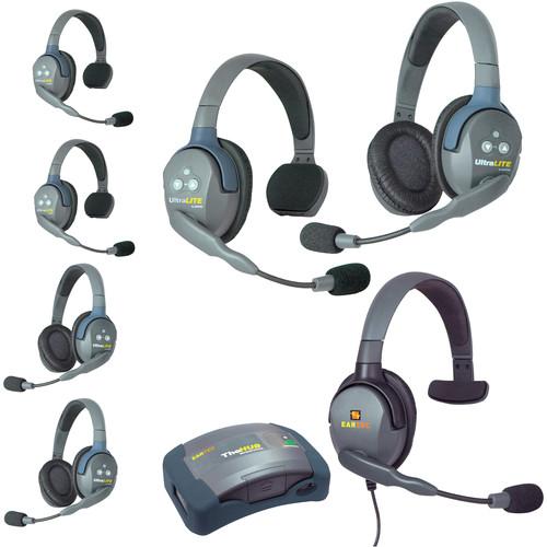 Eartec HUB733MXSAU UltraLITE 7-Person HUB Intercom System with Max 4G Single Headset (AU)