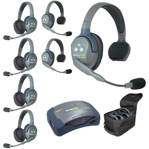 Eartec HUB734 UltraLITE 7-Person HUB Intercom System (USA)