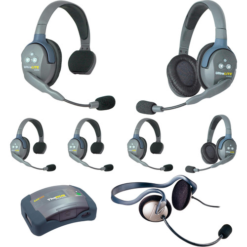 Eartec HUB742MON UltraLITE 7-Person HUB Intercom System with Monarch Headset (USA)