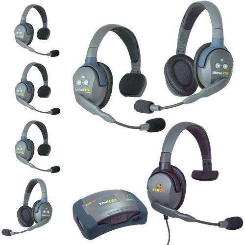 Eartec HUB742MXSEU UltraLITE 7-Person HUB Intercom System with Max 4G Single Headset (EU)