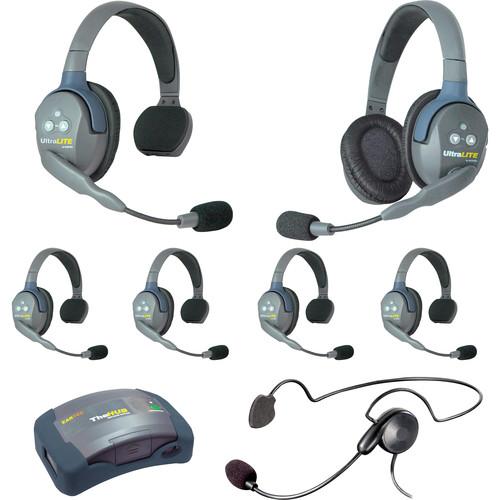 Eartec HUB751CYB UltraLITE 7-Person HUB Intercom System with Cyber Headset (USA)