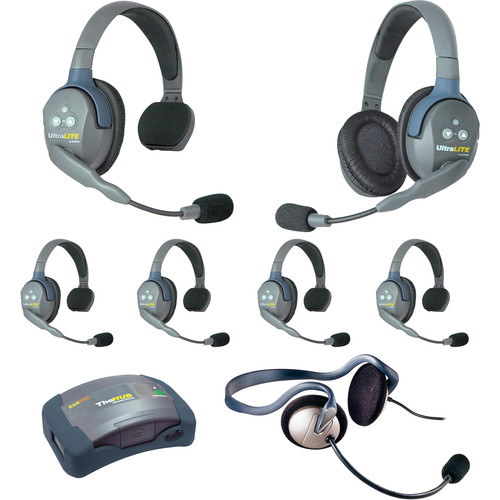 Eartec HUB751MON UltraLITE 7-Person HUB Intercom System with Monarch Headset (USA)