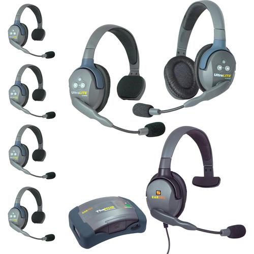Eartec HUB751MXS UltraLITE 7-Person HUB Intercom System with Max 4G Single Headset (USA)