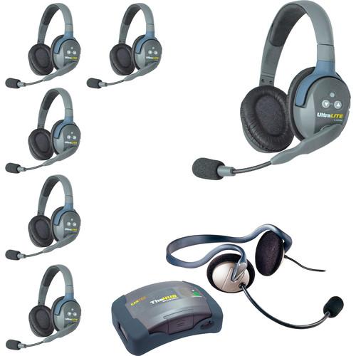 Eartec HUB7DMON UltraLITE 7-Person HUB Intercom System with Monarch Headset (USA)