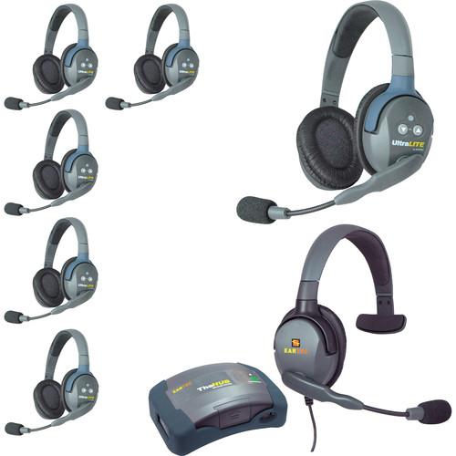 Eartec HUB7DMXS UltraLITE 7-Person HUB Intercom System with Max 4G Single Headset (USA)