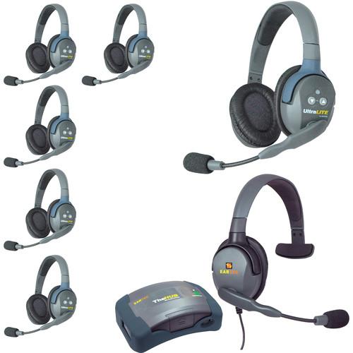 Eartec HUB7DMXSEU UltraLITE 7-Person HUB Intercom System with Max 4G Single Headset (EU)