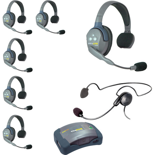 Eartec HUB7SCYBEU UltraLITE 7-Person HUB Intercom System with Cyber Headset (EU)