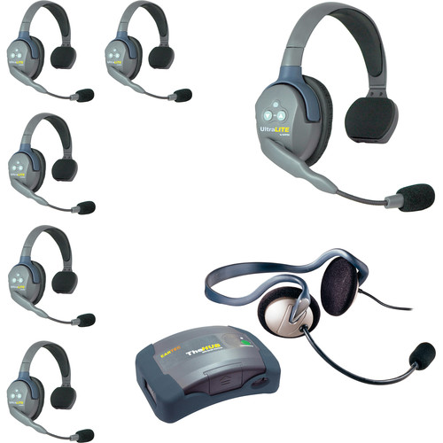 Eartec HUB7SMONEU UltraLITE 7-Person HUB Intercom System with Monarch Headset (EU)