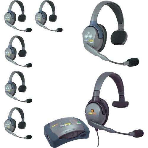 Eartec HUB7SMXS UltraLITE 7-Person HUB Intercom System with Max 4G Single Headset (USA)