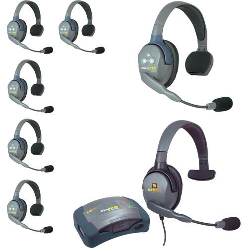 Eartec HUB7SMXSEU UltraLITE 7-Person HUB Intercom System with Max 4G Single Headset (EU)
