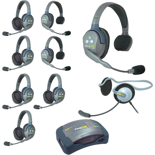 Eartec Ultralite  Hub 9 Person System with 3 Single 5 Double 1 Monarch, and Batteries, Charger and Case