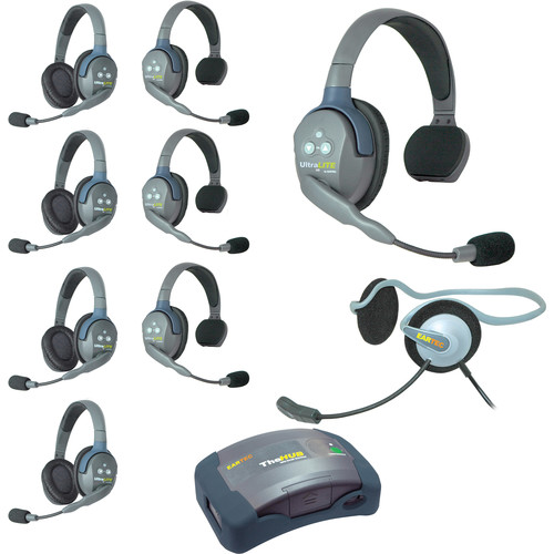 Eartec HUB944MON UltraLITE 9-Person HUB Intercom System with Monarch Headset (USA)