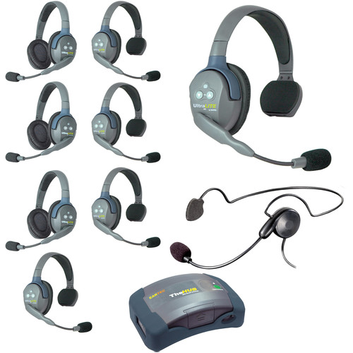Eartec HUB953CYB UltraLITE 9-Person HUB Intercom System with Cyber Headset (USA)