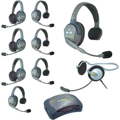 Eartec HUB953MON UltraLITE 9-Person HUB Intercom System with Monarch Headset (USA)