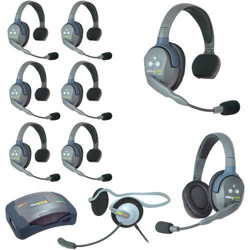 Eartec HUB971MON UltraLITE 9-Person HUB Intercom System with Monarch Headset (USA)