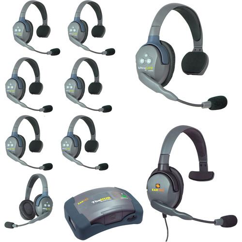 Eartec HUB971MXS UltraLITE 9-Person HUB Intercom System with Max 4G Single Headset (USA)