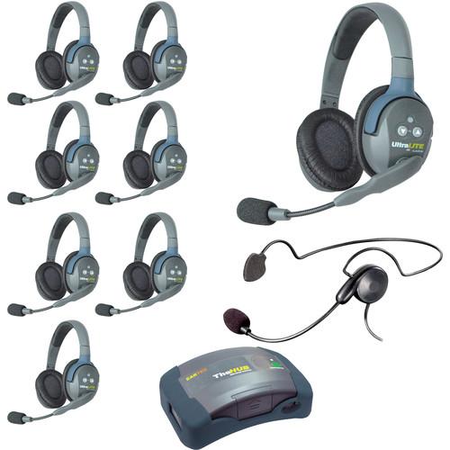Eartec HUB9DCYB UltraLITE 9-Person HUB Intercom System with Cyber Headset (USA)