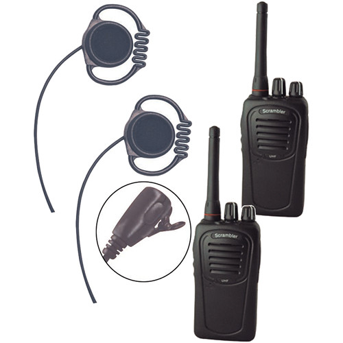 Eartec Scrambler SC-1000 Plus 2-Way Radio & Loop Headset 2-Person System