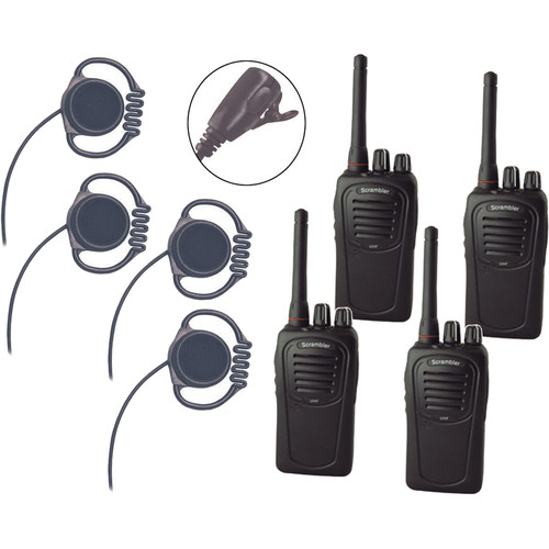 Eartec Scrambler SC-1000 Plus 2-Way Radio & Loop Headset 4-Person System