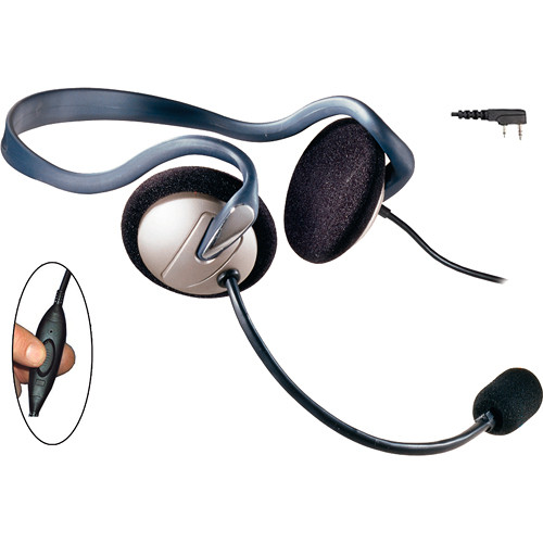 Eartec Monarch Headset with Inline PTT & 2-Pin Kenwood Connector