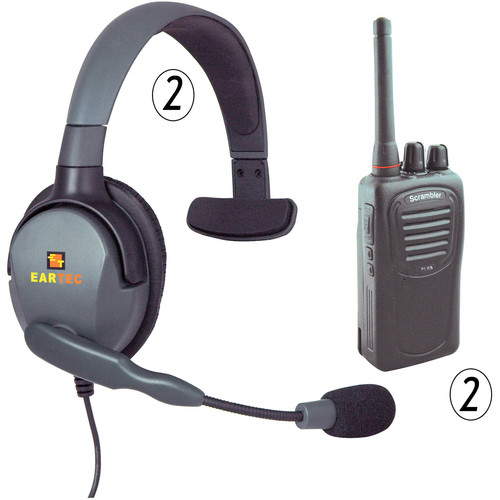 Eartec 2-User SC-1000 Radio System with Max 4G Single Inline PTT