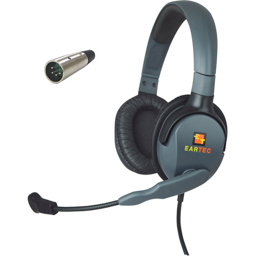 Eartec Max 4G Double Headset with 4-Pin XLR Male Connector