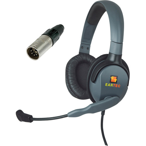 Eartec Max 4G Double Headset with 5-Pin XLR Male Connector