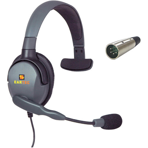 Eartec Max 4G Single Headset with 4-Pin XLR Male Connector