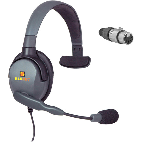 Eartec Max 4G Single Headset with 5-Pin XLR Female Connector