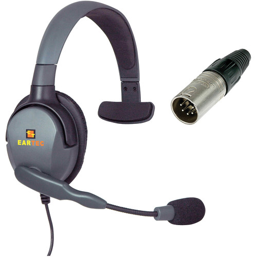 Eartec Max 4G Single Headset with 5-Pin XLR Male Connector