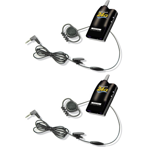 Eartec Simultalk 24G Beltpacks with Loop Headsets (Two Person System)