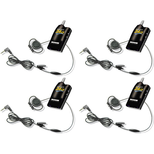 Eartec Simultalk 24G Beltpacks with Loop Headsets (Four Person System)
