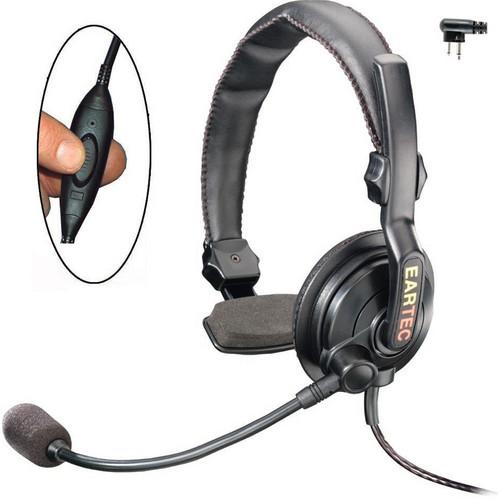 Eartec Slimline Single Headset with Push-To-Talk for 2-Pin Motorola Radios
