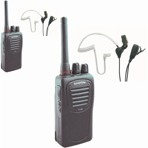 Eartec 2 SC-1000 Radios with SST Lapel Mic Earbuds