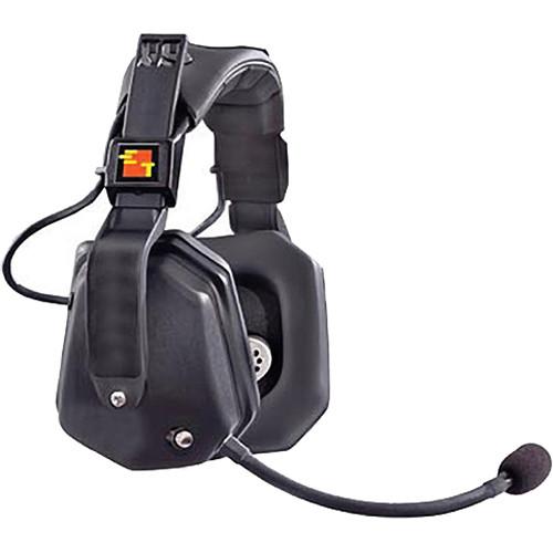 Eartec Ultra Double Headset w/ Shell Push-To-Talk for 2-Pin Motorola Radios