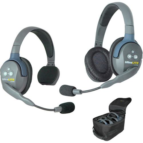Eartec UL2SD UltraLITE 2-Person Headset System with Batteries, Charger & Case