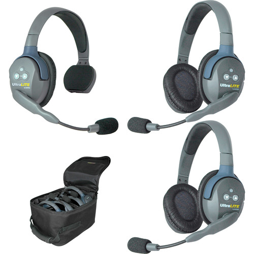 Eartec UL312 UltraLITE 3-Person Headset System (USA)