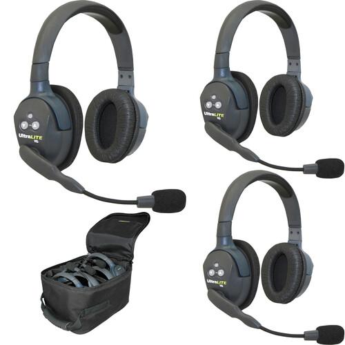 Eartec UL3DEU UltraLITE 3-Person Headset System (EU)