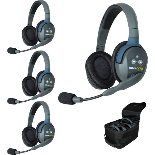 Eartec UL4D UltraLITE 4-Person Headset System (USA)