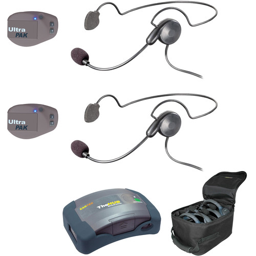 Eartec UPCYB2 UltraPAK 2-Person HUB Intercom System with Cyber Headset