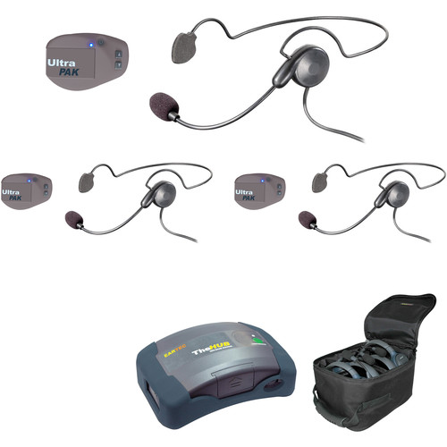 Eartec UPCYB3 UltraPAK 3-Person HUB Intercom System with Cyber Headset