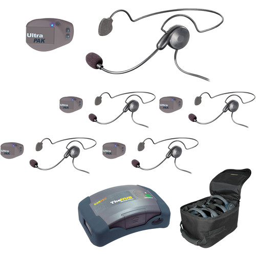 Eartec UPCYB5 UltraPAK 5-Person HUB Intercom System with Cyber Headset