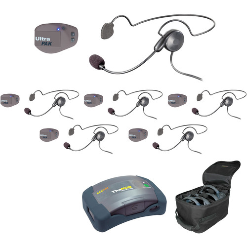 Eartec UPCYB6 UltraPAK 6-Person HUB Intercom System with Cyber Headset