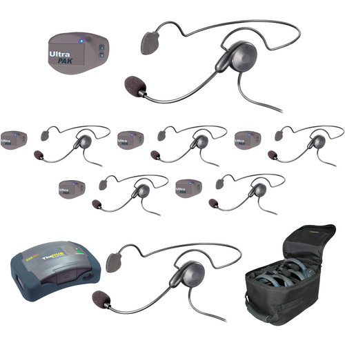 Eartec UPCYB7 UltraPAK 7-Person HUB Intercom System with Cyber Headset