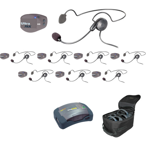 Eartec UPCYB8 UltraPAK 8-Person HUB Intercom System with Cyber Headset